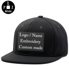 PLZ Custom Logo Snapback Baseball Cap Name Embroidery Sample Hat Customized Gift For Adult Men Women Family Team Custom made Hat(China)