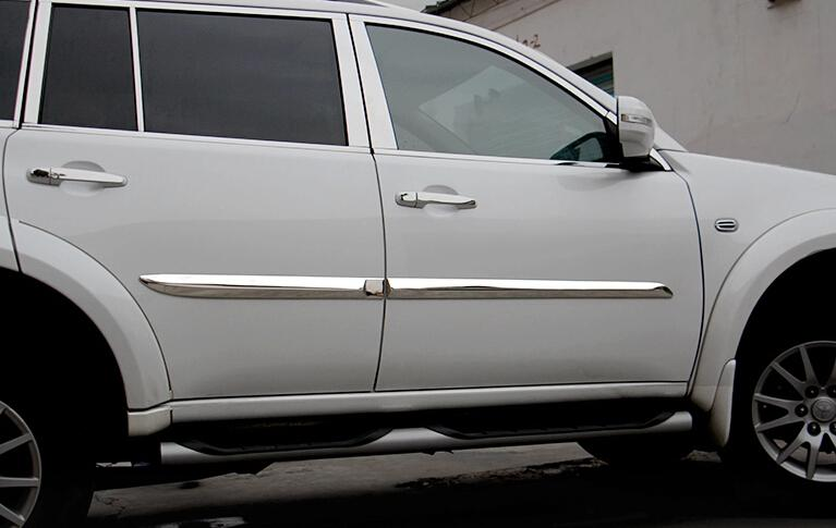 For Mitsubishi pajero sport 2011-2014 Metal Side Door Body Molding Protector Cover Trims 4pcs / set<br><br>Aliexpress
