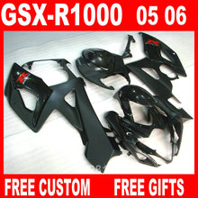 Injection molding 100% fit for Suzuki fairings GSXR1000 05 06 matte black fairing kit GSXR1000 2005 2006 IT33