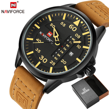 NAVIFORCE Original Luxury Brand Army Military Quartz Watches Men Hour Clock Sports Leather Wristwatch relogio masculino(China)