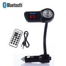 MP3 Audio Player Bluetooth A2DP FM Transmitter Handsfree LCD Display Support U Disk SD TF Card USB Charger for iPhone Samsung