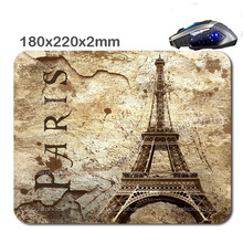 Hot fashion and durable quick game scenery of the Eiffel Tower in Paris gamers notebook Soft mouse pad used in offices and homes