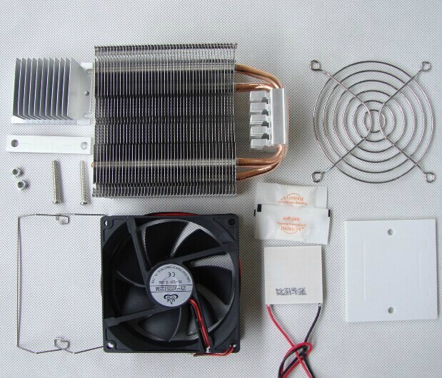 Semiconductor refrigeration cooling learning suite kit DIY refrigeration components with power supply<br>