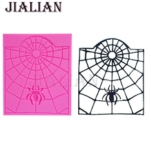 Halloween Spider web cooking tools fondant baking DIY Cake decorating Silicone molds cake pop recipe mould T0782