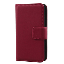 LINGWUZHE Pure Color Genuine Leather Case Magnet Wallet Mobile Phone Cover For Argos Bush Spira C1 5'' 4G