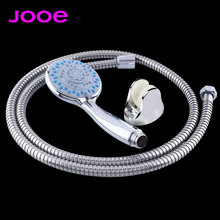 High Quality Pressurize Water Saving Chrome Hand Shower head 1.5m Stainless steel hose shower holder Bathroom Shower set 3pcs