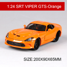 1:24 Model Car 2013 SRT VIPER GTS Orange Metal Racing Vehicle Play Collectible Models Sport Cars toys For Gift(China)