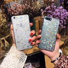 Change Color Stars Cartoon Case For iphone 7 Case Fashion Queen Pink Gril Phone Cases Funny Letter Cover For iphone7 6 6S Plus