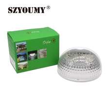 SZYOUMY Fence Lights Solar Power Garden Step Lights Post Pathway Deck Lights  Semi Circle Dome Shape Waterproof Wall Lamp DHL