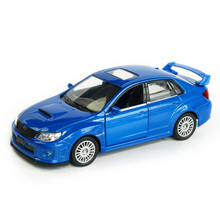RMZ City WRX STI 1:32 Vehicles Alloy Pull Back Car Replica Authorized Original Factory Model Toys Kids Gift Collections 5 Inches