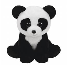 "Ty Beanie Babies 10"" 25cm Baboo Panda Bear Plush Stuffed Animal Collectible Soft Doll Toy with all Tags"