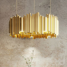 indoor lights Delightfull Brubeck Northern Europe Postmodern Hanging lamp Aviation Aluminum Golden Tube Pendant Light