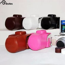 Ocotex Free Shipping PU Leather Camera Bag for Olympus Pen Lite E-PL7 Black/Light Brown/White/Dark Brown/Pink EPL7 Case(China)