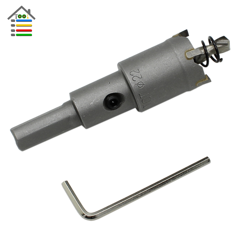 New 22mm Metalworking Carbide Tip Drill Bit TCT Hole Saw Set for Stainless Steel Metal Alloy Drilling<br><br>Aliexpress