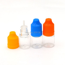 Fast Shipping 20pcs Empty 3ml PET Hard Plastic Bottle With Childproof Cap Long Tip for E Cig E-liquid Dropper Bottles