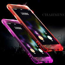For Samsung Note 5 Case VIUME Fundas Colorful blink Flashlight Clear Crystal TPU LED Incoming Call LED Cover for Samsung Note 4