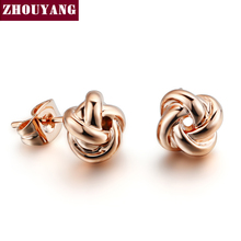 Buy Top Classic Rose Gold Color Fashion Jewelry Made Austrian Crystal Wholesale ZYE103 ZYE104 for $1.41 in AliExpress store
