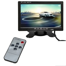 Promotion ! 7 Inch  TFT LCD Car Monitor Headrest Display Video Input For Rear View Camera DVD GPS With Remote Control