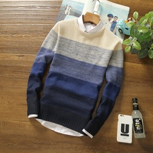 2017 New Fashion Winter Pullover Men Knitted Slim Sweater Christmas Jumper Mens Casual O-Neck Sweaters