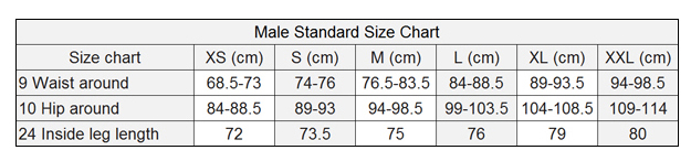legging Size male