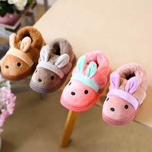 695638146028 Winter Plush Home Slippers Children s Indoor Shoes For Boys Girls Cotton Slipper  Non-slip Rabbit ears Baby Kids Shoes MCH034