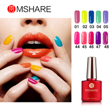 MSHARE 10ml 1pcs UV Gel Nail Polish Gelpolish Nail Art Bright Shining Colors Optional Varnish LED UV Gel Polish Candy Color(China)