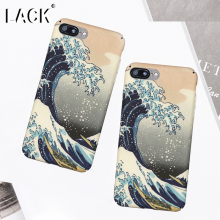 LACK Phone Case For iphone 7 Case Cartoon Sea wave Ocean Cover Fashion Hard PC Full Protective Cases For iphone7 6 6S Plus Capa