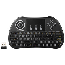 2.4G Wireless Portable Hand-Held Touchpad Gaming QWERTY Keyboard Wireless Remote Control for PC Smart TV XBOX 360 Playstation