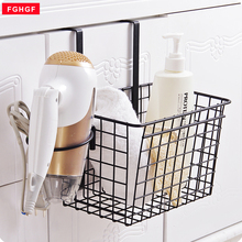 Creative Iron Over Door Storage Rack Practical Kitchen Cabinet Drawer Organizer Door Hanger Storage Basket Kitchen Tools(China)