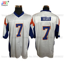2017 New Mens Cheap American Football Jerseys #7 Alex Moran Jersey White Retro Stitched Shirt for Men Mountain State Jersey(China)