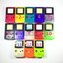10 set Clear shell case Replacement For Gameboy Color GBC game console full housing for Mario/ Pikachu Version