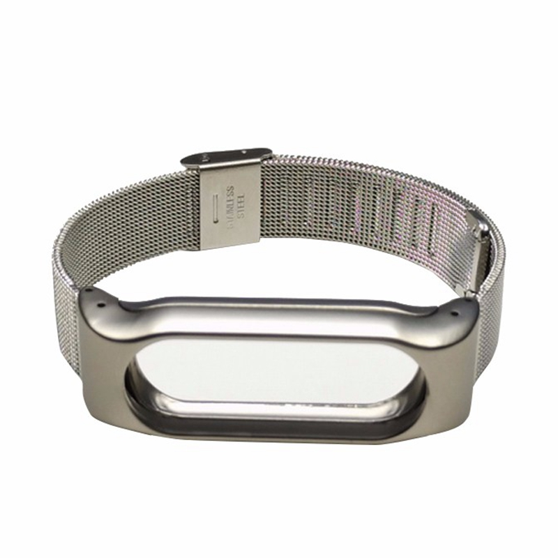 SCOMAS Metal Strap For Xiaomi Mi Band 2 Screwless smart Bracelet For MiBand 2 Wristbands Replacement Accessories For Mi Band 2 7