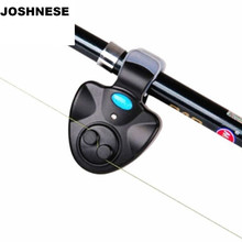 Black Universal Fishing Alarm Electronic Fish Bite Alarm Bell Finder Sound Alert LED Light Indicator Clip On Fishing Rod