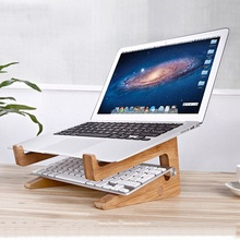 Detachable Laptop Desk Laptop Stand Wooden Holder Mount For Macbook Tablet PC Notebook Portable Lapdesks with Cooling Function