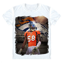 Hot! Broncos Von Miller T Shirt 3D Printed T-Shirts Homme Short Sleeve O-Neck Tshirt America Star Graphic Tees Awesome Men Tops(China)