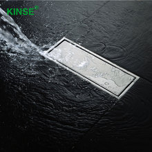 KINSE Durable Stainless Steel Hidden Shower Drain Rectangle Floor Drains for Bathroom Kitchen Basement(China)