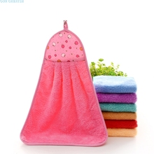 Our cherish lovely pet Kitchen Hand Towel Soft Plush Hanging Wipe Bathing Towel sep926(China)