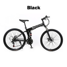 21 24 27 Three Speed Mountain Bike 26 Inch High Quality Folding Double Disc Double Damping MTB Bike 5 Color Choose Bicycle(China)