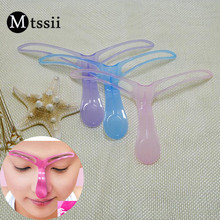 Mtssii Reusable Eyebrow Stencils Shaping Grooming Eye Brow Makeup Model Template Eyebrows Styling Tool Random Color