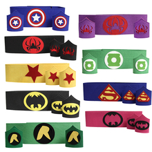 Superhero armband + waistband set - kids batman spiderman wonder woman thor belt costume for birthday party cosplay(China)