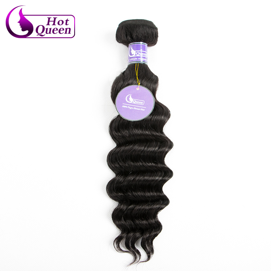 Ross Pretty Hair 1 Bundles Of Indian Virgin Hair Extension More Wavy Big Deep Wave Styling 100g Each Natural Color #1b<br><br>Aliexpress