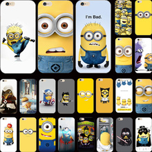 For iPhone 5S SE Wholesale Price Cover Despicable Me Yellow Minion Case For Apple iPhone 5 iPhone5S Phone Cases Shell 2017 New