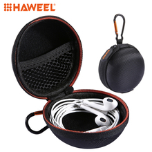 HAWEEL Round Portable Carrying Hard EVA Case Earbuds Pocket Collection Box Earphone Cable Jewelry Storage Container Bag