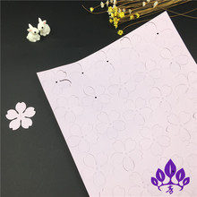 3D heat shrink plastic pre-sliced heat shrinkage flower slices water lily lily orchid cherry brooch combination DIY A4 pieces(China)