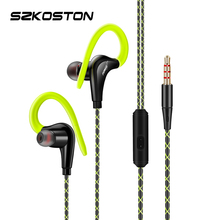 Original Sport Earphone Super Stereo Headphones Sweatproof Running Headset With Mic Ear Hook For All Mobile Phone