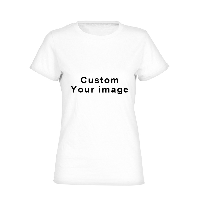 Women Customize Printed Personalized T-Shirts Short Sleeve T Shirt for Ladies Elastic Breathable Casual Tshirts tops girls 2018