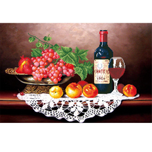 Top Design Diy Diamond Painting Colored Wine Glasses Beadwork Diamond Mosaic Cross Stitch Round Diamond Crafts(China)