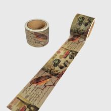 Retro Famous Building City Washi Paper Masking Tape for Scrapbooking Giftwrapping DIY Sticker