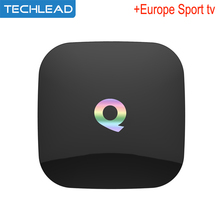 Q box Android 6.0 IPTV Set top box with Iview hd European sports tv channels account Arabic Italian germany sport list Greek tv