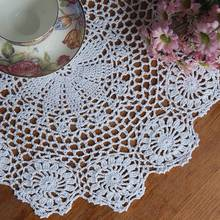 HOT Cotton Mat Hand Crocheted Lace Doilies  Flower Shape Coasters Cup Mug Pads Home Coffee Shop Table Decoration Crafts